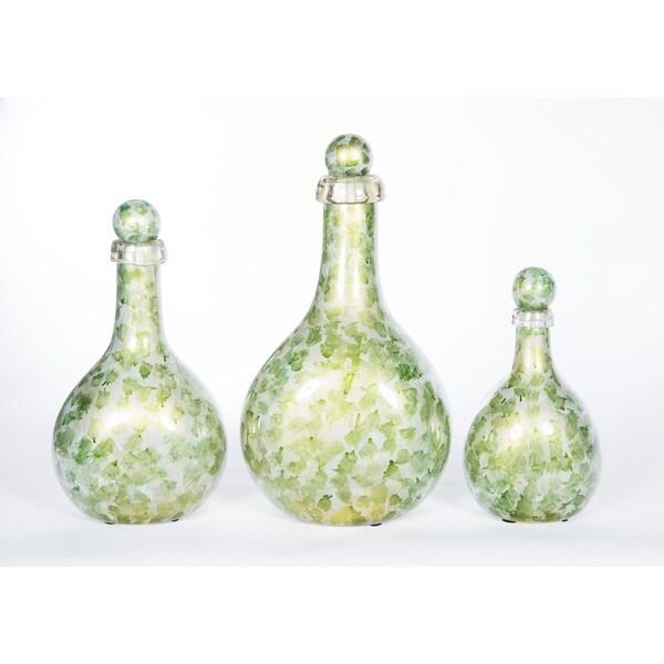 Bottles with Tops in Algae Bloom (Set of 3)