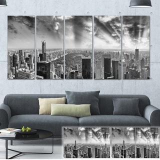 Designart 'Central Park and Surrounding Buildings' Cityscape Photo Large Canvas Print