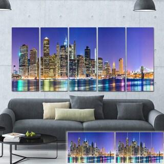Designart 'New York Cityscape Panorama' Photo Print on Canvas