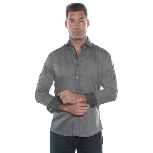 Isaac B. Grey Long Sleeve Button Down Shirt