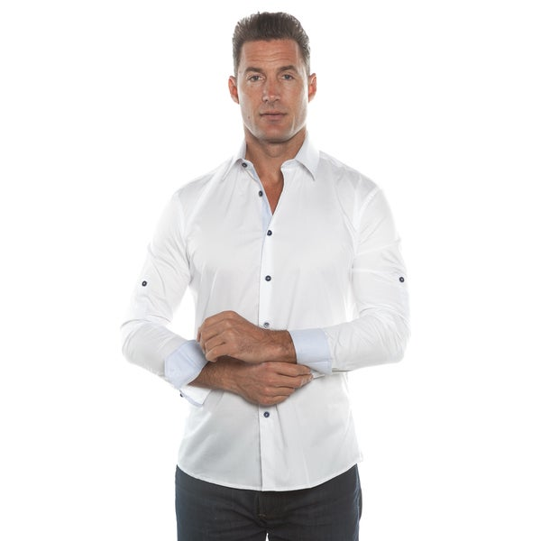 Isaac B. White Solid Long Sleeve Button Down Shirt