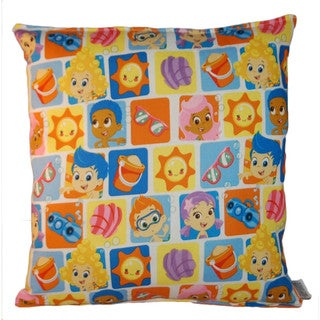 Lillowz Bubble Guppies Reversible 14 inch x 14 inch Medium Sized Throw Pillow