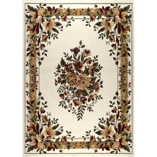 Home Dynamix Optimum Collection Ivory Polypropylene Machine Made Area Rug Runner (1'9 x 7'2)