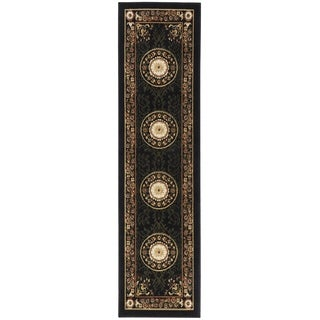 Home Dynamix Optimum Collection Black Polypropylene Machine Made Area Rug Runner (1'9 x 7'2)