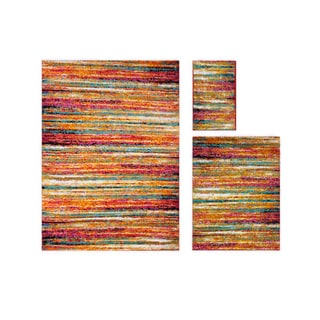 Home Dynamix Splash Collection Multicolor Polypropylene Machine Made 3-piece Set Area Rugs (5'2 x 7'2,3'3 x 4'3,19.6 x 31.5)