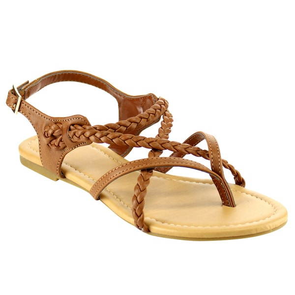 Beston Braided Flat Sandals