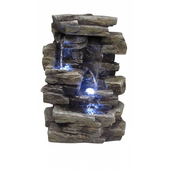 Waterfall Tabletop Fountain with White LED Lights  : Waterfall Tabletop Fountain with White LED Lights 4ea63e96 b508 4924 bfd4 ce422bf03092600 from www.overstock.com size 600 x 600 jpeg 40kB