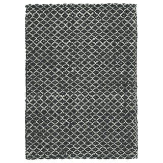 Handmade Jute Eastbay Charcoal Diamonds Rug (8'0 x 10'0)