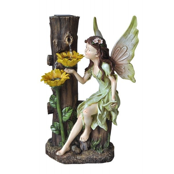 Solar Powered Fairy Fountain