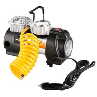 RAD Sportz 12 Volt Electric Co-Pilot Air Compressor with Gauge for Bike or Auto