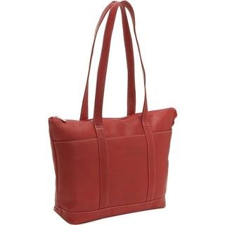 LeDonne Leather Double Strap Medium Pocket Tote Bag