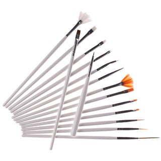 Bliss and Grace 15-piece Professional White Nail Brush Set
