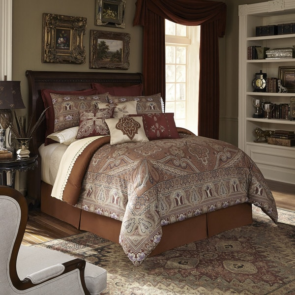 Downton Abbey Grantham 4-piece Comforter Set King Size(As Is Item)