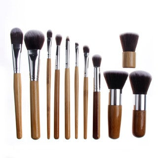 Bliss and Grace Professional 11-piece Bamboo Eco Makeup Brush Set