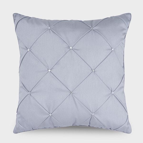 Downton Abbey Aristocrat Silver Rhinestone Decorative Throw Pillow