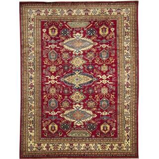 Super Kazak Farah Red Hand-knotted Rug (8'10 x 11'7)