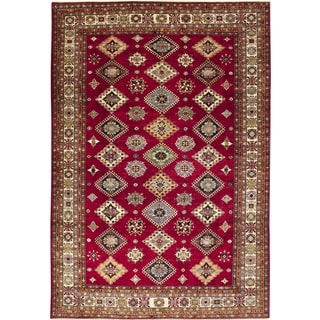 Super Kazak Payam Red Hand-knotted Rug (8'8 x 12'3)