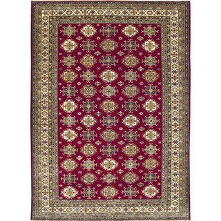 Super Kazak Delshad Red Hand-knotted Rug (8'10 x 11'8)