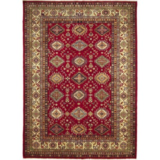 Super Kazak Nada Red Hand-knotted Rug (8'9 x 12'1)