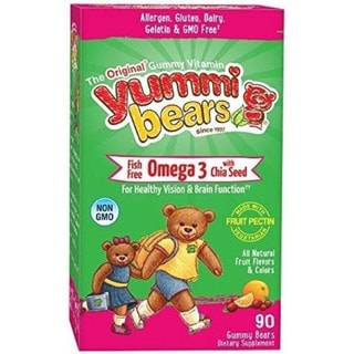 Yummi Bears Fish Free Omega 3 with Chia Seed (90 Gummy Bears)