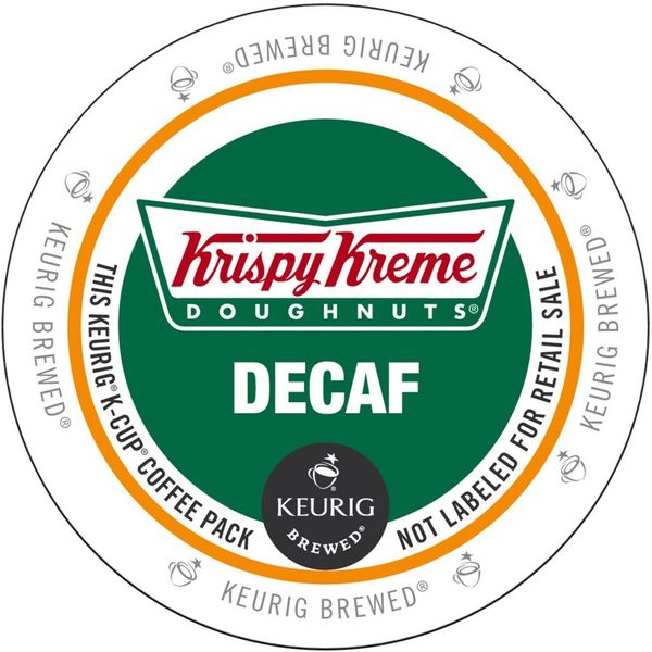 Krispy Kreme Decaf K-Cup Portion Pack for Keurig Brewers 18102000