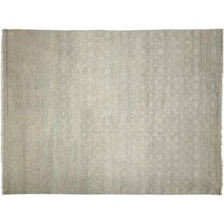 Fine Oushak Ihab Grey Hand-knotted Rug (9' x 11'7)