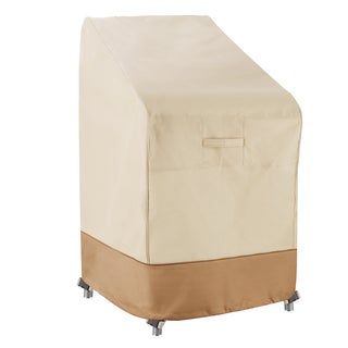 Villacera High Quality Stackable Chairs Cover Beige and Brown