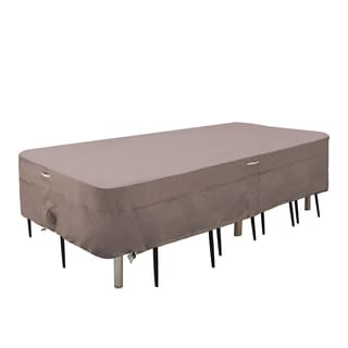 Villacera High Quality Rectangular Taupe Patio Table Cover