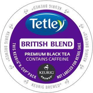 Tetley Tea British Blend Tea K-Cup Portion Pack for Keurig Brewers