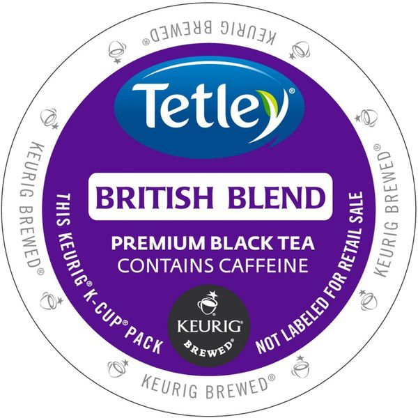 Tetley Tea British Blend Tea K-Cup Portion Pack for Keurig Brewers 18102080