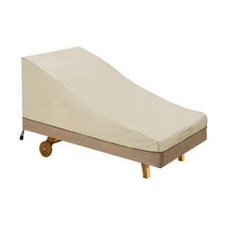 Villacera High Quality Patio Chaise Lounger Cover Beige and Brown Medium