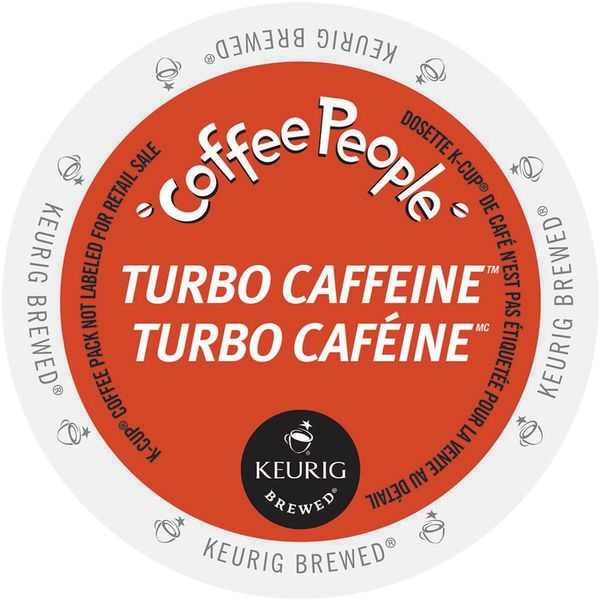 Coffee People Turbo Caffeine K-Cup Portion Pack for Keurig Brewers 18292540