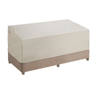 Villacera High Quality Patio Love Seat Cover Beige and Brown Medium
