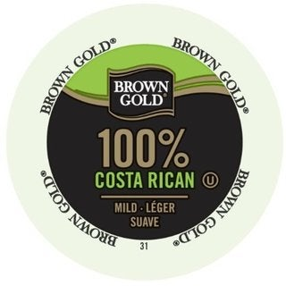 Brown Gold Coffee 100-percent Costa Rican K-Cup Portion Pack for Keurig Brewers 18292543