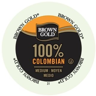 Brown Gold Coffee 100-percent Colombian K-Cup Portion Pack for Keurig Brewers 18102236