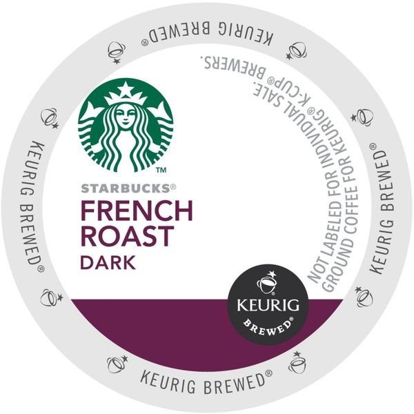 Starbucks French Roast Coffee K-Cup Portion Pack for Keurig Brewers 18102253