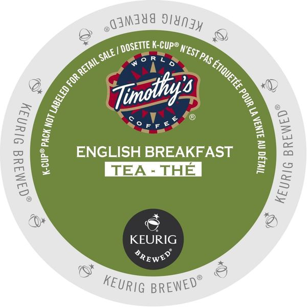 Timothy's English Breakfast Tea K-Cup Portion Pack for Keurig Brewers 18102257