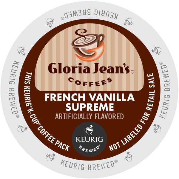 Gloria Jean's French Vanilla Supreme Coffee K-Cup Portion Pack for Keurig Brewers 18102284