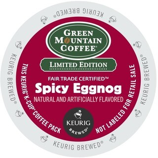 Green Mountain Coffee Spicy Eggnog K-Cup Portion Pack for Keurig Brewers