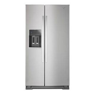 Whirlpool 36-inch, 25 Cubic Foot Side by Side Refrigerator in Stainless Steel