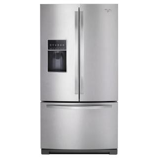 Whirlpool Monochromatic Stainless Steel 26.8 Cubic Foot French Door Refrigerator