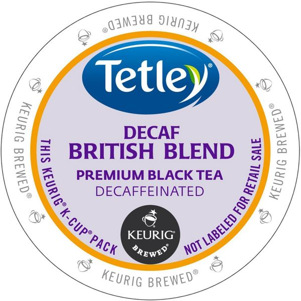 Tetley Tea British Blend Decaf Tea K-Cup Portion Pack for Keurig Brewers 18102537