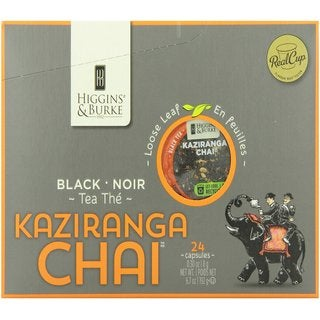 Higgins and Burke Specialty Tea Kazaringa Chai Loose Leaf Tea K-Cup Portion Pack for Keurig Brewers
