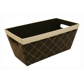 Black Quilted Tray with White Trim (Set of 3)