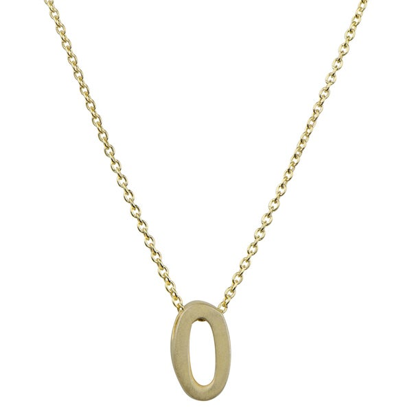 Brass Gold Color Lucky Number 0 Necklace