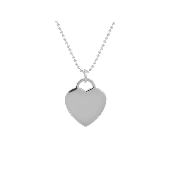 Brass Heart Tag Necklace