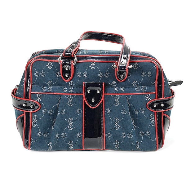 Charriol CC Logo Canvas Bowler Bag in Blue