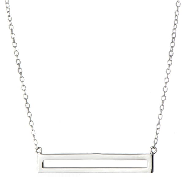 Brass Simple Bar Charm Necklace