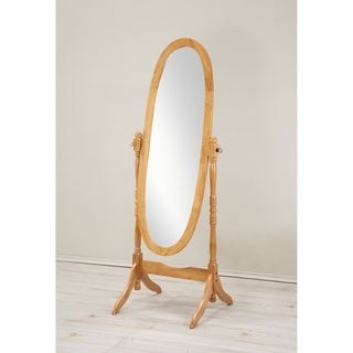 Traditional Queen Anna Style Wood Floor Cheval Mirror