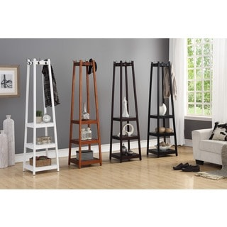 Vassen Coat Rack w/ 3-Tier Storage Shelves